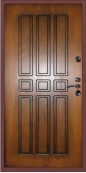 Металлическая дверь с терморазрывом Style Termo, медный антик - Винорит Голден с черной патиной