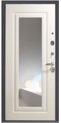 Металлическая дверь Groff Р2-216 П-25, Антик Серебро, беленый дуб (Зеркало)
