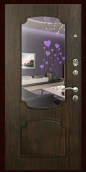 """Металлическая дверь """"Z-49"""", с зеркалом, тиковое дерево"""