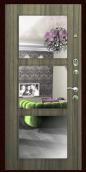 """Металлическая дверь """"Z-16"""", с зеркалом, серый сандал"""