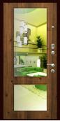 """Металлическая дверь """"Z-13"""", с зеркалом, старое дерево"""